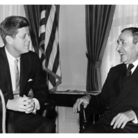 Pedro with President John Fitzgerald Kennedy, c. 1961